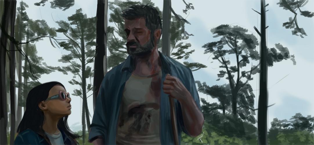 Logan movie speedpainting