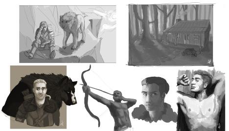 hawk sketches 1